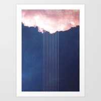 rain Art Prints featuring Rain by SUBLIMENATION