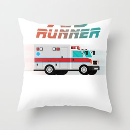 Funny Ambulance Shirt - Aid Runner Rescuer Gift Throw Pillow
