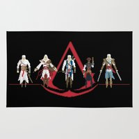 assassins creed Area & Throw Rugs featuring The Creed by Midgetcorrupter