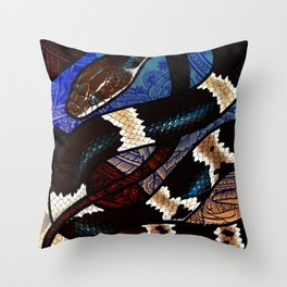 Banded Wolf Snake Throw Pillow