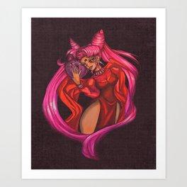 Black Lady on Canvas Art Print