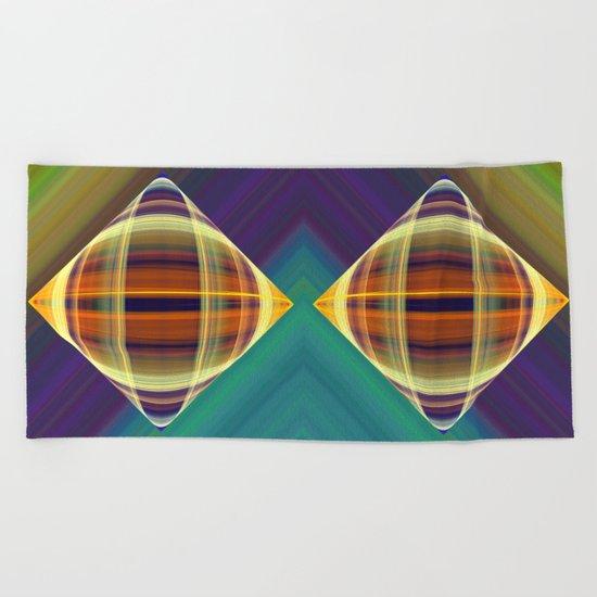 Graphic illusionism Beach Towel