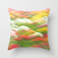 Tulip Field Abstract - Holland Michigan Throw Pillow