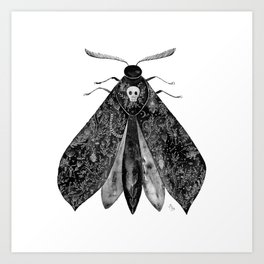 The Moth and All His Friends Art Print