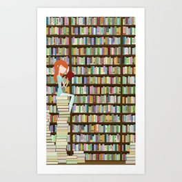 When in doubt, go to the library Art Print