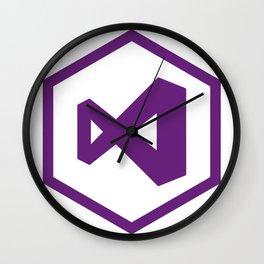 visual studio logo sticker C# developers Wall Clock