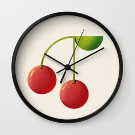 Cheery Cherries Wall Clock