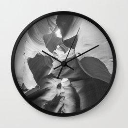 ANTELOPE CANYON XXIX (B+W) Wall Clock