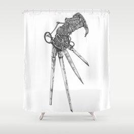 Scissorhand (BW-L) Shower Curtain