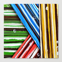 planes Canvas Prints featuring Striped Planes by Claudia McBain