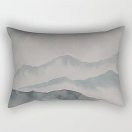 foggy landscape watercolor Rectangular Pillow