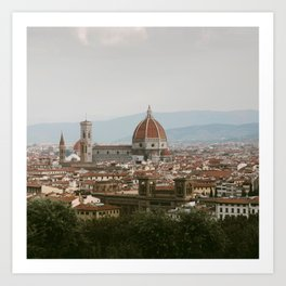 Morning View of the Florence Duomo Art Print