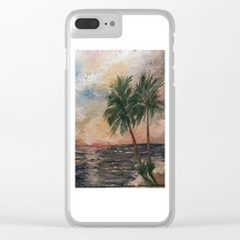 Beach Side  Oil on Canvas Clear iPhone Case
