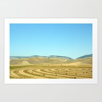 montana Art Prints featuring Montana by Chelsey Badiuk