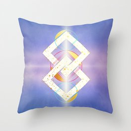 Linked Lilac Diamonds :: Floating Geometry Throw Pillow