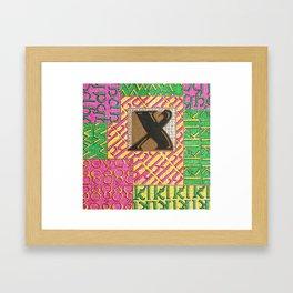 Alpha-Numero: X Framed Art Print