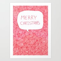 merry christmas Art Prints featuring Merry Christmas! by Fimbis