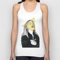 blondie Tank Tops featuring Smiling Blondie by Coco Dávez