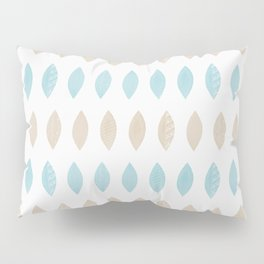 Pastel leaves blue and tan palette Pillow Sham