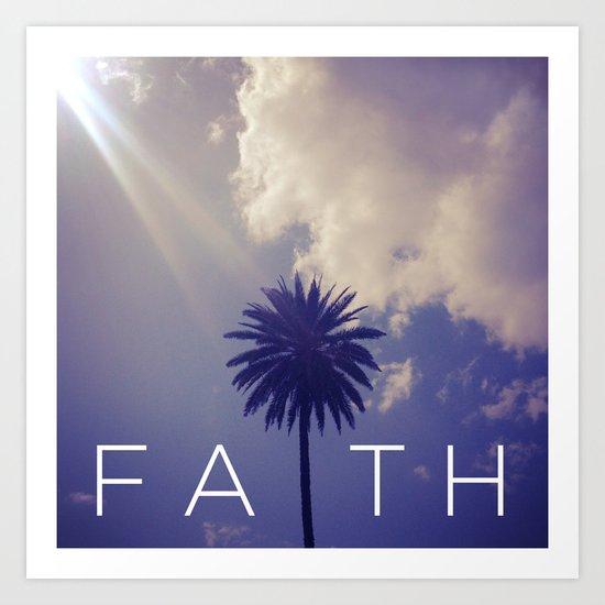 Palm Tree Faith Art Print