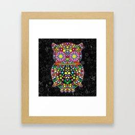 Owl Zentangle Floral   Framed Art Print