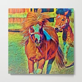 AnimalColor_Horse_001_by_JAMColors Metal Print