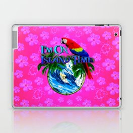 Island Time Surfing Pink Hibiscus Laptop & iPad Skin