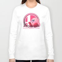 super smash bros Long Sleeve T-shirts featuring Kirby - Super Smash Bros. by Donkey Inferno
