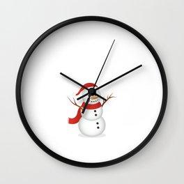 Snowmen Fall from Heaven Unassembled T-Shirt Wall Clock