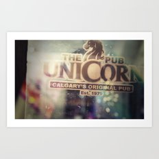 The Unicorn Pub Art Print