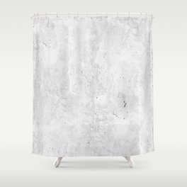 White Light Gray Concrete Shower Curtain