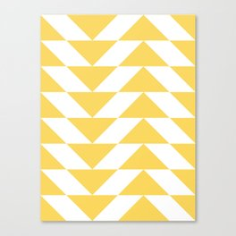 Yellow Triangle Canvas Print