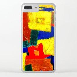Equilibrium - Balance -Öl auf Leinwand Clear iPhone Case