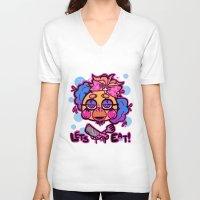 fnaf V-neck T-shirts featuring FNAF Lets Eat! by Harajukebox