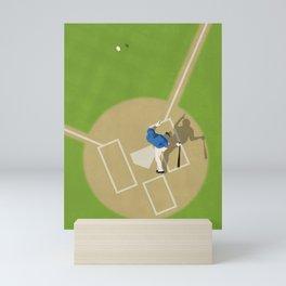Baseball Player From Above  Mini Art Print