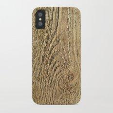 Unrefined Wood Grain Slim Case iPhone X
