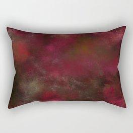 Dark red black batic look Rectangular Pillow