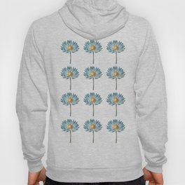 Blue Egyptian water lily pattern Hoody