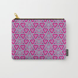 Bubble Gum Pink and Turquoise Cowgirl Arrowhead Paper Airplane Southwestern Design Pattern Carry-All Pouch