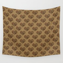 Pale Mechanical Heart Wall Tapestry