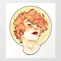 enjolras Art Prints featuring Enjolras by chazstity