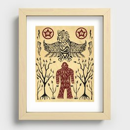 The Legend (Thunderbird Makes The Hairy Man Hide Himself) Recessed Framed Print