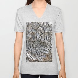 TEXTURES -- Blue Elderberry Bark Unisex V-Neck