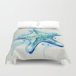 Starfish Waters II natural Duvet Cover