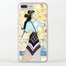 Minoan Beauty Clear iPhone Case
