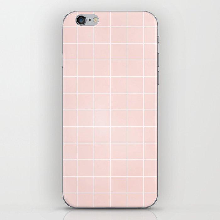 Pink Coral Grid iPhone Skin