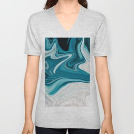 Abstract painting blue Unisex V-Neck