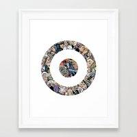 clint barton Framed Art Prints featuring clint barton hawkguy bullseye by captainkittyspa