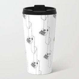 continuous typing pattern Travel Mug