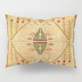 Bikaner Dhurrie Northwest Indian Cotton Kilim Print Pillow Sham